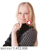 Молодая блондинка с леденцом. Стоковое фото, фотограф Светлана Широкова / Фотобанк Лори