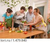 Купить «Семья. Сын показывает пожилым родителям как работает аэрогриль.», фото № 1479840, снято 15 февраля 2010 г. (c) Федор Королевский / Фотобанк Лори