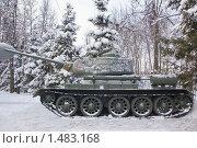 Купить «Красногорск. Музей техники. Танк Т-34», фото № 1483168, снято 6 января 2010 г. (c) Илюхина Наталья / Фотобанк Лори