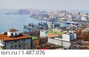 Купить «Панорама Владивостока», фото № 1487076, снято 20 апреля 2020 г. (c) Михаил Марковский / Фотобанк Лори
