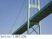 """Мост """"1000 островов"""" (""""Thousand Islands"""") через реку St.Lawrence (на границе США и Канады) крупным планом (2006 год). Стоковое фото, фотограф Сергей Данилов / Фотобанк Лори"""