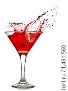 Купить «Красный коктейль», фото № 1491560, снято 18 января 2010 г. (c) Ярослав Данильченко / Фотобанк Лори