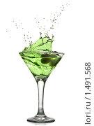 Купить «Зеленый коктейль», фото № 1491568, снято 18 января 2010 г. (c) Ярослав Данильченко / Фотобанк Лори