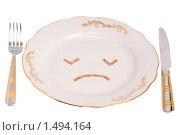 Купить «Грустная тарелка», фото № 1494164, снято 9 декабря 2009 г. (c) Черников Роман / Фотобанк Лори