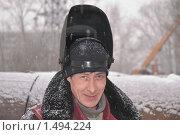 Купить «Сварщик», эксклюзивное фото № 1494224, снято 19 февраля 2010 г. (c) Алёшина Оксана / Фотобанк Лори