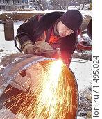 Купить «Сварщик», эксклюзивное фото № 1495024, снято 31 января 2010 г. (c) Алёшина Оксана / Фотобанк Лори