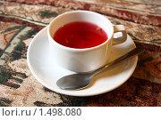 Чашка каркаде. Стоковое фото, фотограф Дмитрий Степной / Фотобанк Лори