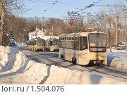 Купить «Трамвай в Останкино», эксклюзивное фото № 1504076, снято 12 января 2010 г. (c) Алёшина Оксана / Фотобанк Лори
