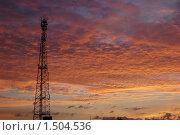 Вышка на закате. Стоковое фото, фотограф Мария Толпыго / Фотобанк Лори