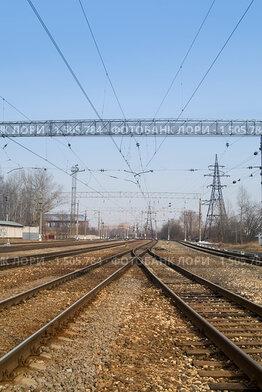 Купить «Железная дорога», фото № 1505784, снято 11 апреля 2009 г. (c) Максим Лоскутников / Фотобанк Лори
