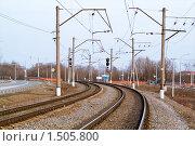 Купить «Железная дорога», фото № 1505800, снято 11 апреля 2009 г. (c) Максим Лоскутников / Фотобанк Лори