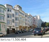 Купить «Улица Сан-Франциско с домами в викторианском стиле», фото № 1506464, снято 4 февраля 2008 г. (c) Валентина Троль / Фотобанк Лори