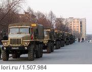 Подготовка к военному параду в центре Новосибирска (2009 год). Редакционное фото, фотограф Энди / Фотобанк Лори
