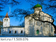 Церковь Федора Стратилата в Великом Новгороде зимой. Стоковое фото, фотограф Валерий Шевцов / Фотобанк Лори