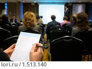 Купить «Бизнес-семинар», фото № 1513140, снято 10 декабря 2009 г. (c) Vladimir Kolobov / Фотобанк Лори