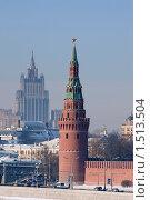 Купить «Кремль», фото № 1513504, снято 7 февраля 2010 г. (c) Синицын Игорь / Фотобанк Лори