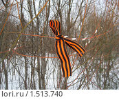 Купить «Георгиевская ленточка», фото № 1513740, снято 28 февраля 2010 г. (c) Плотников Михаил / Фотобанк Лори