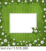 Открытка на зеленом фоне с цветами. Стоковая иллюстрация, иллюстратор Lora Liu / Фотобанк Лори