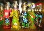 Витрина с сувенирными бутылочками с ликерами в Сан-Марино, фото № 1516076, снято 25 августа 2008 г. (c) ElenArt / Фотобанк Лори