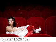 Девушка в кинотеатре. Стоковое фото, фотограф Калинина Алиса / Фотобанк Лори