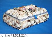 Купить «Шкатулка ручной работы выложенная морскими ракушками», фото № 1521224, снято 23 февраля 2010 г. (c) Надежда Глазова / Фотобанк Лори