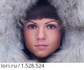Девушка в меховом капюшоне. Стоковое фото, фотограф Назвин Алексей / Фотобанк Лори