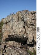 Замысловатые узоры на скальной породе. Стоковое фото, фотограф Дмитрий Степной / Фотобанк Лори