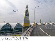 """Купить «Международный аэропорт в Бангкоке """"Суварнапхум"""". Взлет самолета.», фото № 1531176, снято 20 января 2010 г. (c) Куликова Татьяна / Фотобанк Лори"""