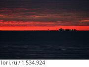 Предрассветный сухогруз. Стоковое фото, фотограф Виктор Белевский / Фотобанк Лори