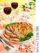 Купить «Мясо, запеченное с томатами», эксклюзивное фото № 1536580, снято 8 марта 2010 г. (c) Лисовская Наталья / Фотобанк Лори