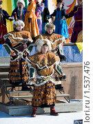 Купить «Люди танцуют в народных костюмах», фото № 1537476, снято 14 февраля 2010 г. (c) Александр Подшивалов / Фотобанк Лори