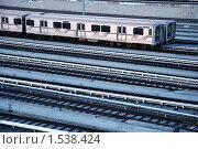 Купить «Железнодорожная станция», фото № 1538424, снято 3 мая 2008 г. (c) Константин Сутягин / Фотобанк Лори