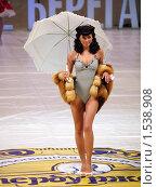 Купить «Модель на подиуме», фото № 1538908, снято 20 февраля 2010 г. (c) Александр Кузовлев / Фотобанк Лори