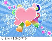 Коллаж из сердечек. Стоковая иллюстрация, иллюстратор Екатерина Новикова / Фотобанк Лори