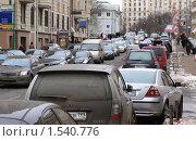 Купить «Москва. Пробка на Новой Басманной улице», фото № 1540776, снято 10 марта 2010 г. (c) Ярослав Каминский / Фотобанк Лори