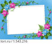 Рамка с цветами. Стоковая иллюстрация, иллюстратор Lora Liu / Фотобанк Лори