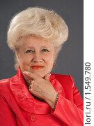 Купить «Портрет пожилой дамы», фото № 1549780, снято 25 февраля 2010 г. (c) Федор Королевский / Фотобанк Лори