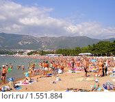 Купить «Городской пляж, Геленджик», фото № 1551884, снято 11 августа 2007 г. (c) Art Konovalov / Фотобанк Лори