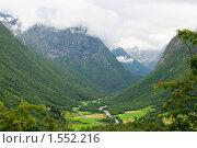Купить «Горная долина», фото № 1552216, снято 17 августа 2009 г. (c) Виталий Романович / Фотобанк Лори