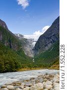 Купить «Ледниковая река», фото № 1552228, снято 18 августа 2009 г. (c) Виталий Романович / Фотобанк Лори