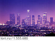 Купить «Небоскребы Лос-Анджелеса ночью», фото № 1555680, снято 2 июня 2009 г. (c) Константин Сутягин / Фотобанк Лори