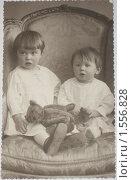 Купить «Старинное фото дети в кресле», фото № 1556828, снято 14 марта 2010 г. (c) Земскова / Фотобанк Лори
