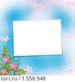 Рамка для фотографии с цветами. Стоковая иллюстрация, иллюстратор Lora Liu / Фотобанк Лори