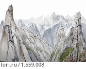 Горные хребты. Стоковая иллюстрация, иллюстратор Дмитрий Хрусталев / Фотобанк Лори