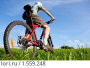 Велосипедист. Стоковое фото, фотограф Антон Соколов / Фотобанк Лори