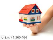 Купить «Игрушечный домик в женской руке», фото № 1560464, снято 26 мая 2009 г. (c) Воронин Владимир Сергеевич / Фотобанк Лори