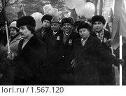 Купить «Октябрьская демонстрация 70-е гг», фото № 1567120, снято 24 января 2019 г. (c) Людмила Куклицкая / Фотобанк Лори