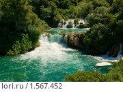 Купить «Водопады на реке Крка. Хорватия», фото № 1567452, снято 15 августа 2009 г. (c) Наталия Ефимова / Фотобанк Лори