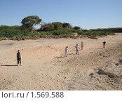 Купить «Сомалийцы на высохшем русле реки», фото № 1569588, снято 8 января 2010 г. (c) Free Wind / Фотобанк Лори
