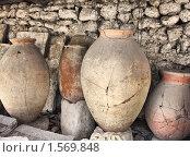 Купить «Древнегреческие кувшины. Херсонес», фото № 1569848, снято 20 октября 2009 г. (c) Pshenichka / Фотобанк Лори
